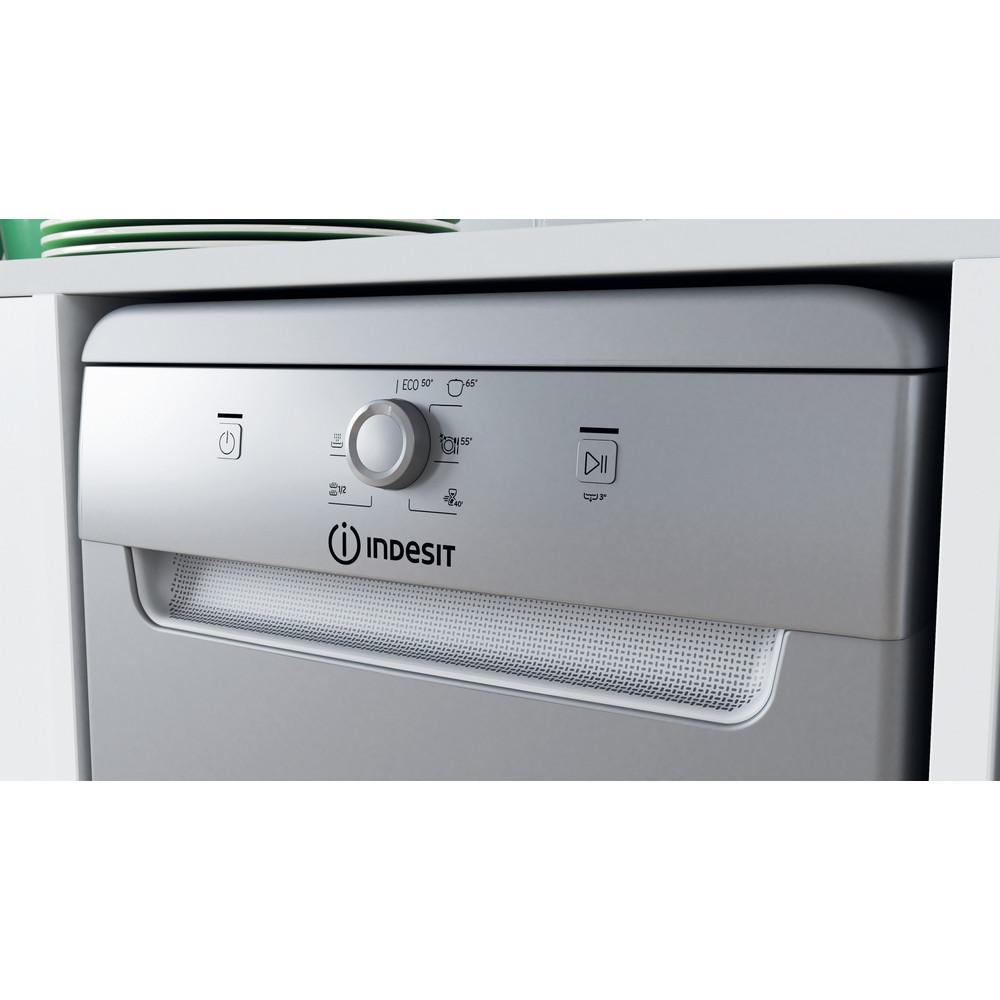 Indesit Посудомоечная машина Отдельно стоящий DSFE 1B10 S Отдельно стоящий A+ Lifestyle control panel