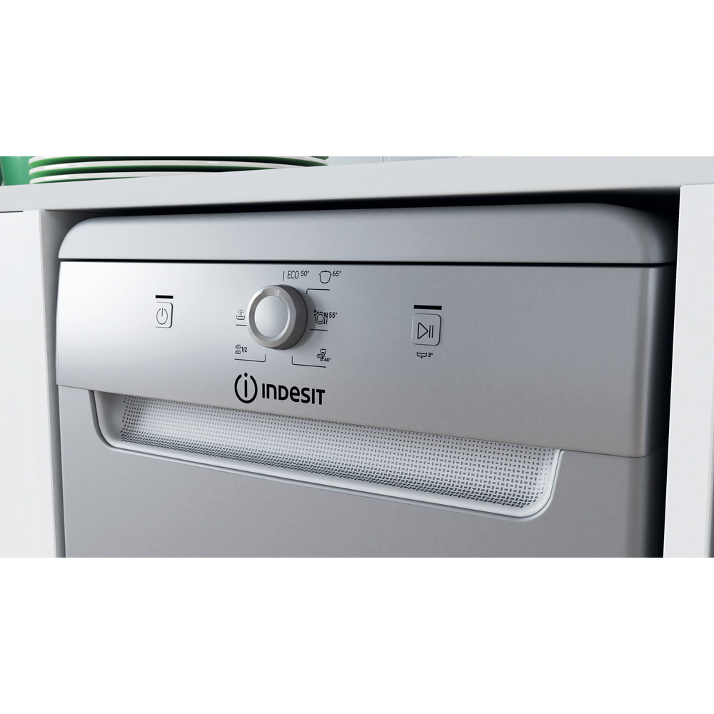Indesit Mašina za pranje posuđa Samostojeći DSFE 1B10 S Samostojeći A+ Lifestyle control panel