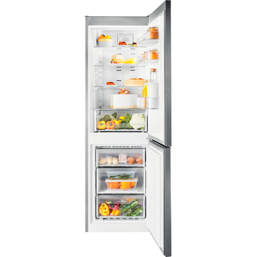 Indesit Холодильник з нижньою морозильною камерою. Соло XIT8 T2E X Optic Inox 2 двері Frontal open