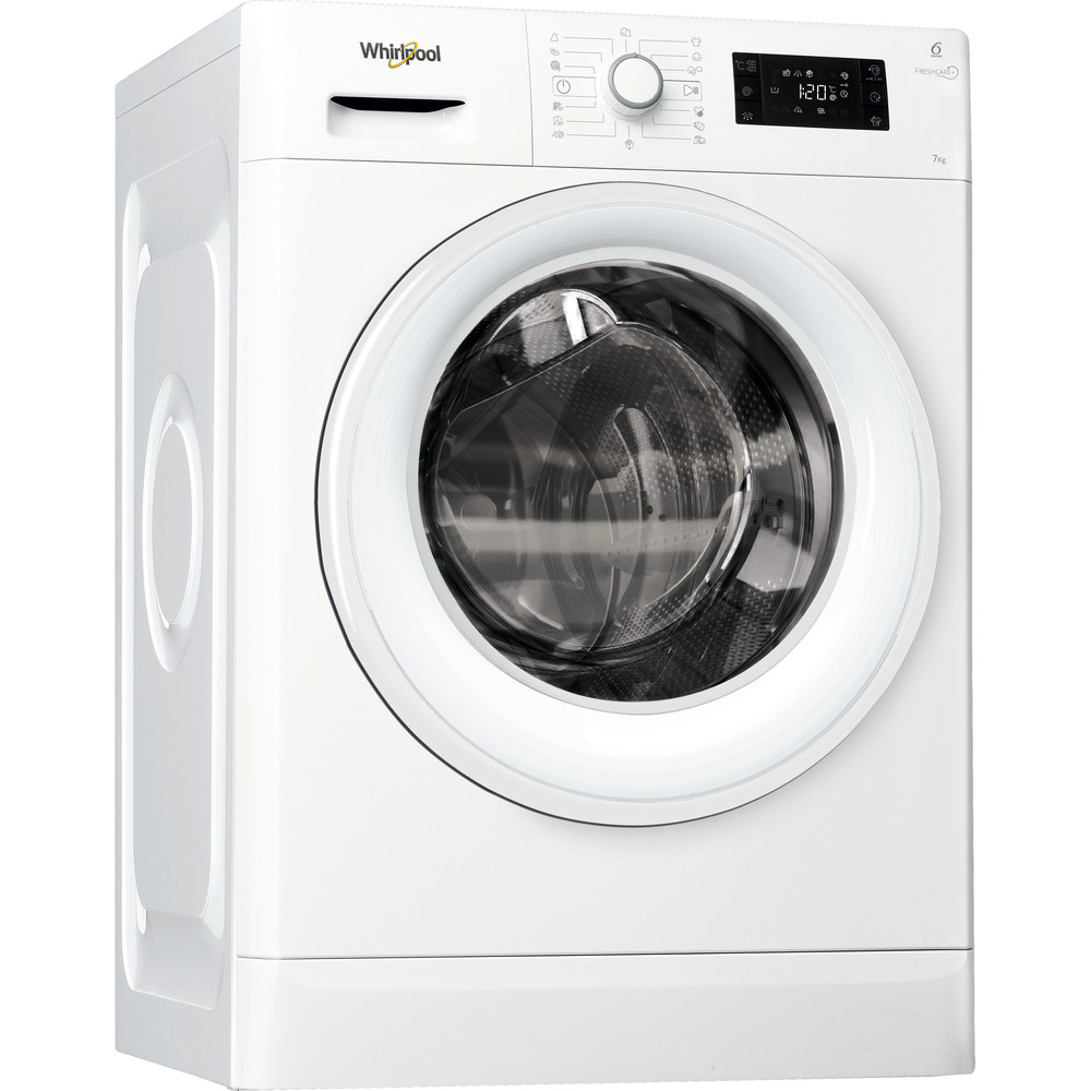 Whirlpool frontmatet vaskemaskin: 7 kg - FWG71484W EU