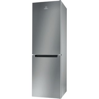 Indesit Fridge Freezer Free-standing LR8 S1 S UK Silver 2 doors Perspective