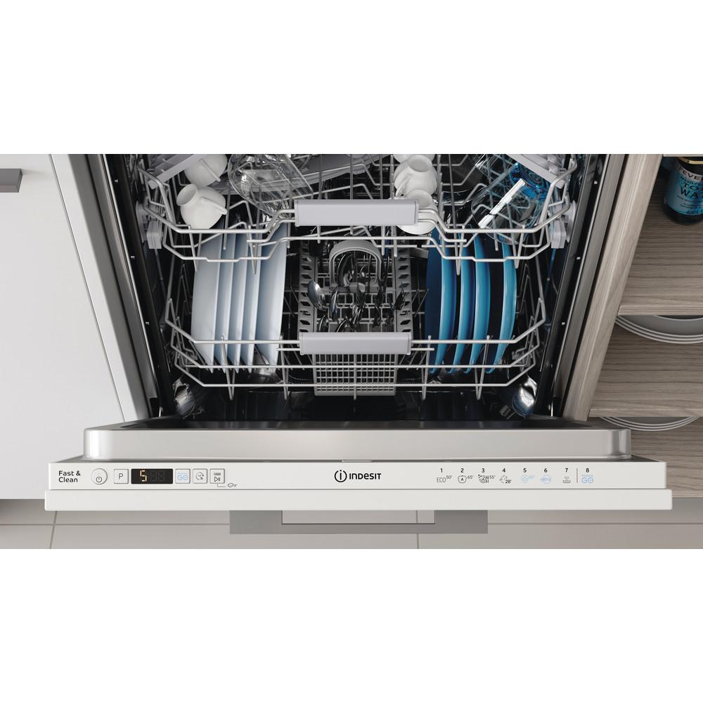Indesit Vaatwasser Inbouw DIC 3C24 A Volledig geïntegreerd E Lifestyle control panel
