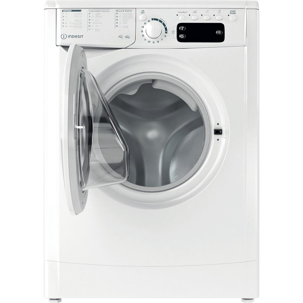 Indesit Lavadora secadora Libre instalación EWDE 751251 W SPT N Blanco Cargador frontal Frontal open