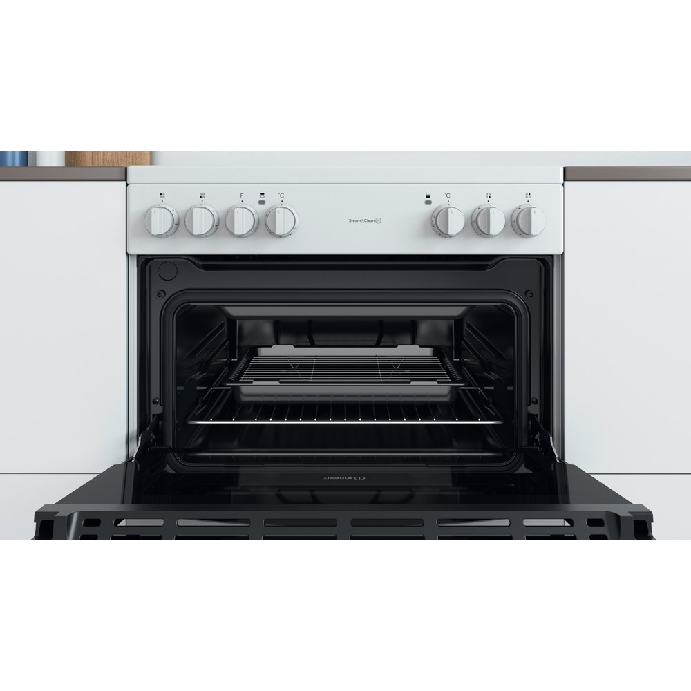 Indesit Double Cooker ID67V9KMW/UK White A Cavity