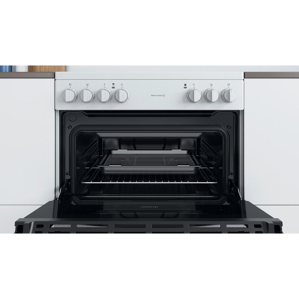 Indesit Double Cooker ID67V9KMW/UK White B Cavity