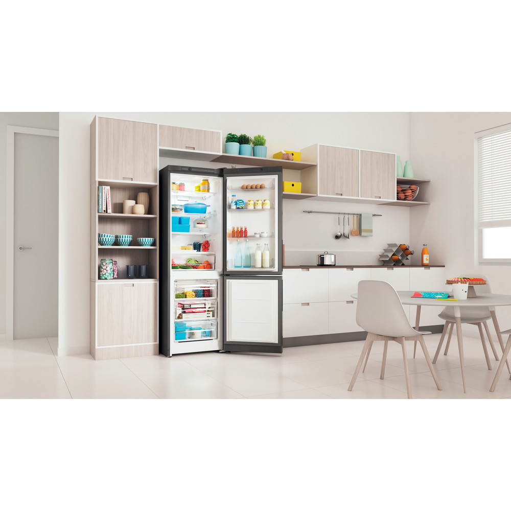 Indesit Холодильник с морозильной камерой Отдельностоящий ITD 4180 S Серебристый 2 doors Lifestyle perspective open