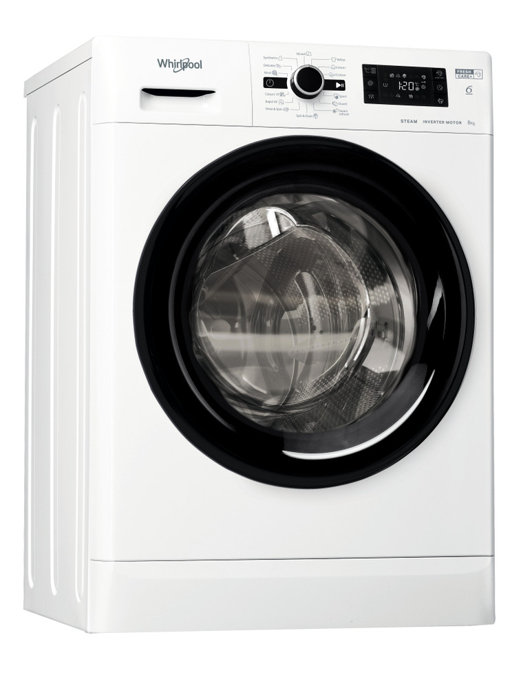 Whirlpool Washing machine Samostojeća FWSG61283BV EE Bela Prednje punjenje A+++ Perspective