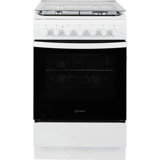 Indesit Fornuis IS5G5PHW/NL Wit Gas Frontal