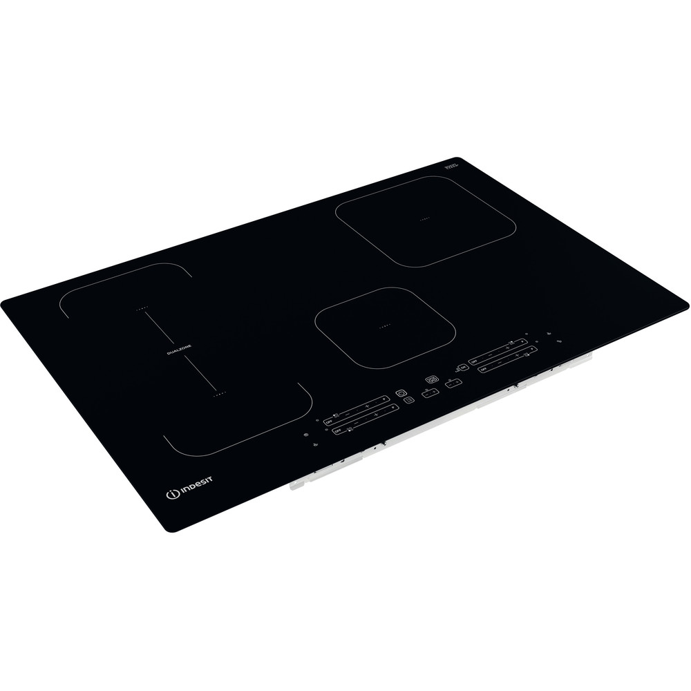 Indesit Kookplaat IB 21B77 NE Zwart Induction vitroceramic Perspective