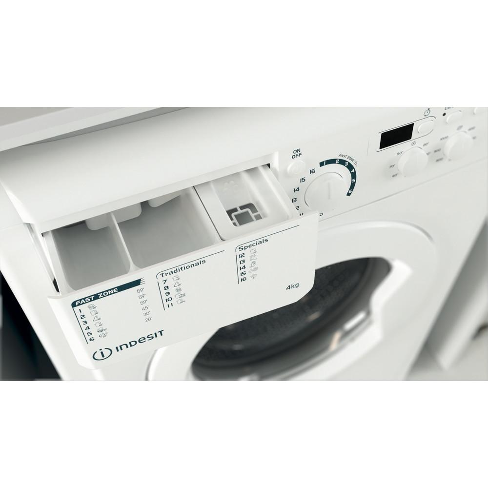 """""""Indesit"""" Skalbimo mašina Laisvai pastatoma EWUD 41051 W EU N Balta Pakraunama iš priekio F Drawer"""