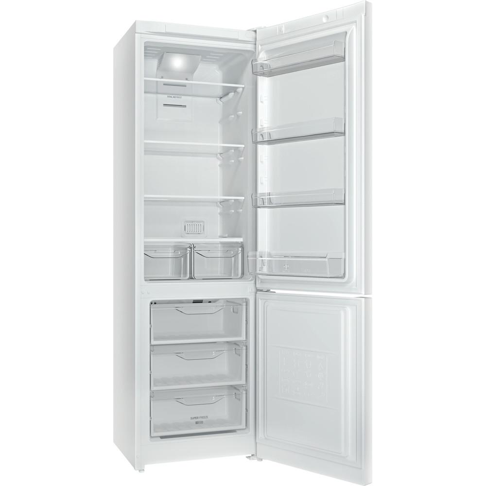 Indesit Холодильник с морозильной камерой Отдельностоящий DFN 20 Белый 2 doors Perspective open