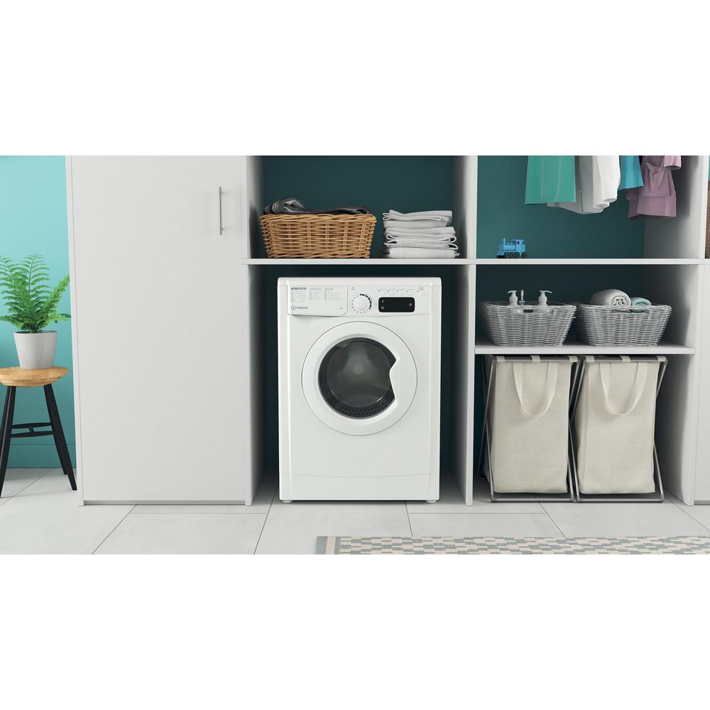 Indesit Waschmaschine Freistehend EWSE 61251 W DE N Weiß Frontlader F Lifestyle frontal