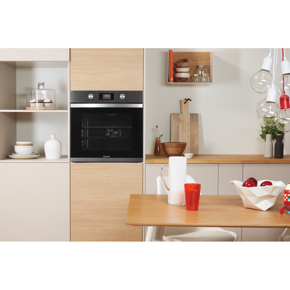Indesit OVEN Built-in KFW 3841 JH IX UK Electric A+ Lifestyle frontal