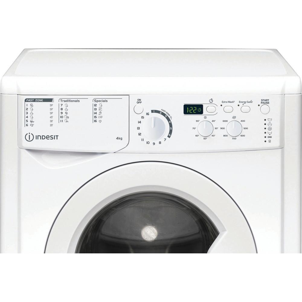 """""""Indesit"""" Skalbimo mašina Laisvai pastatoma EWUD 41051 W EU N Balta Pakraunama iš priekio F Control panel"""
