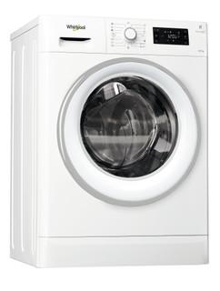 Vapaasti sijoitettava kuivaava Whirlpool pyykinpesukone: 9 kg - FWDG97168WS EU