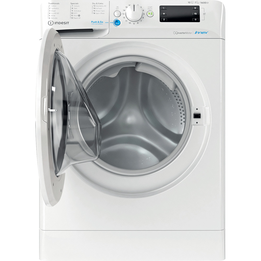 Indesit Washer dryer Free-standing BDE 1071682X W UK N White Front loader Frontal open