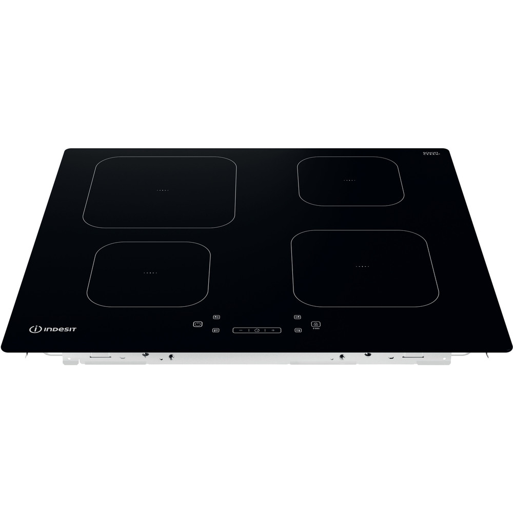 Indesit Piano cottura IS 15Q60 NE Nero Induction vitroceramic Frontal top down