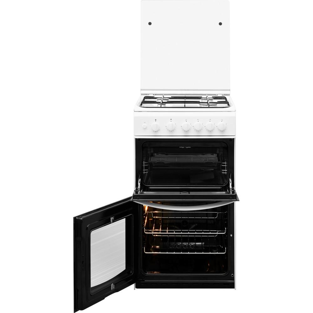 Indesit Double Cooker ID5G00KMW/UK /L White A+ Enamelled Sheetmetal Frontal open