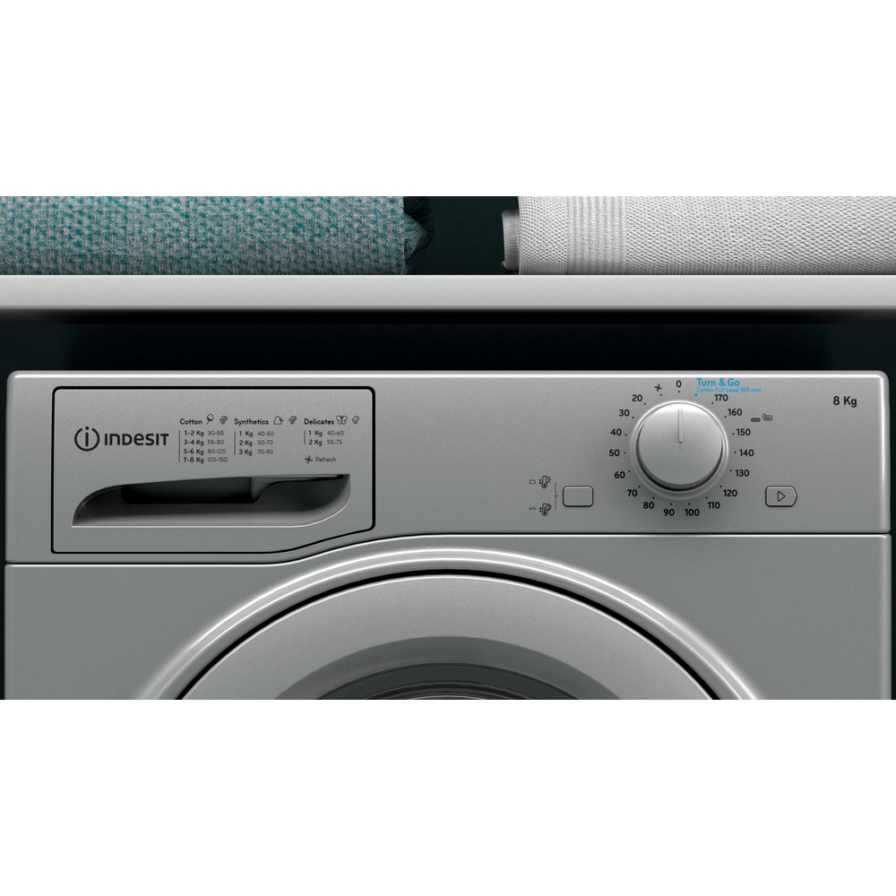 Indesit Dryer I2 D81S UK Silver Lifestyle control panel
