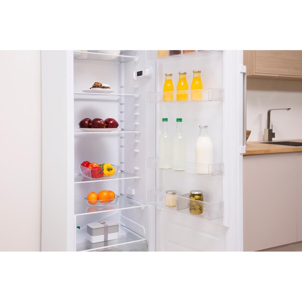 Indesit Réfrigérateur Pose-libre SI8 1Q WD Blanc Lifestyle perspective open
