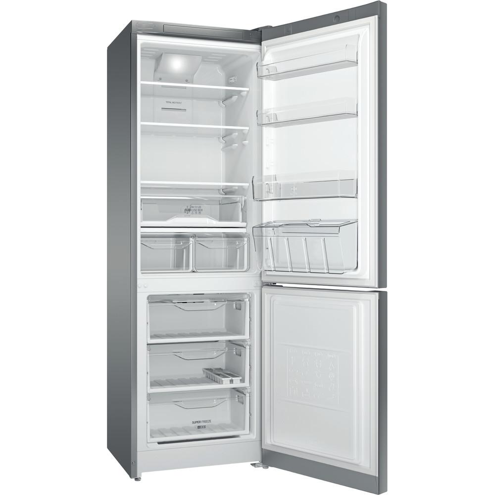 Indesit Холодильник с морозильной камерой Отдельностоящий DF 5181 X M Inox 2 doors Perspective open