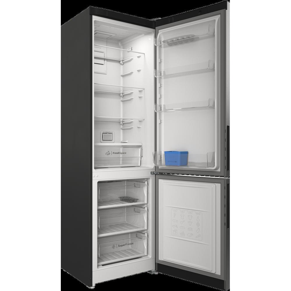 Indesit Холодильник с морозильной камерой Отдельностоящий ITR 5200 S Серебристый 2 doors Perspective open