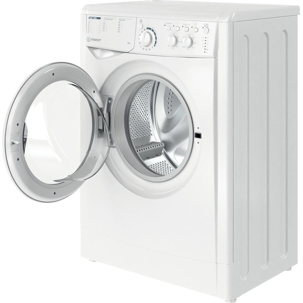 Indesit Перална машина Свободностоящи EWSC 61251 W EU N Бял Предно зареждане F Perspective open
