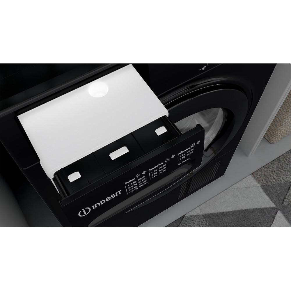 Indesit Dryer I2 D81B UK Black Drawer
