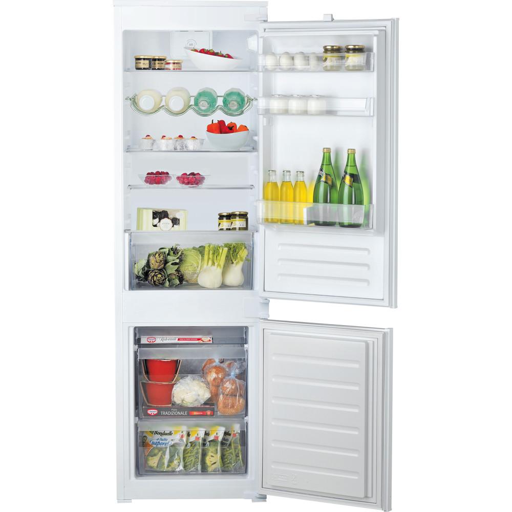 Hotpoint_Ariston Combinazione Frigorifero/Congelatore Da incasso BCB 7030 D AA Acciaio 2 porte Frontal open