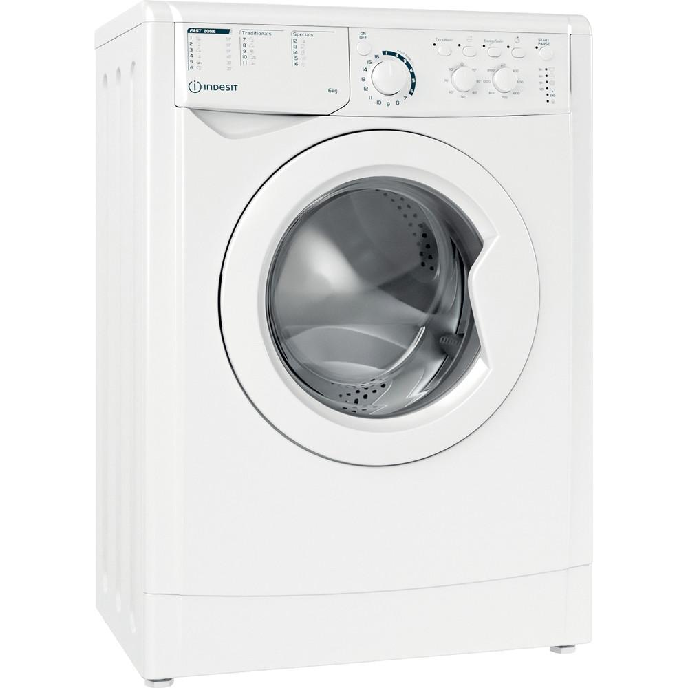 Indesit Перална машина Свободностоящи EWSC 61251 W EU N Бял Предно зареждане F Perspective