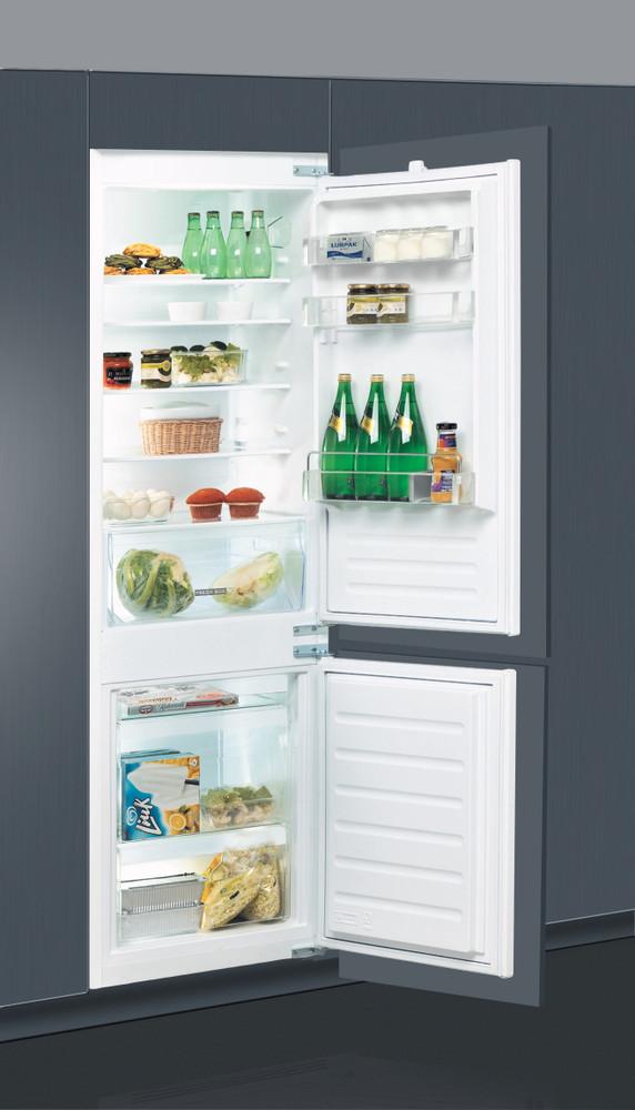 Whirlpool Jääkaappipakastin Kalusteisiin sijoitettava ART 66011 Valkoinen 2 doors Perspective open