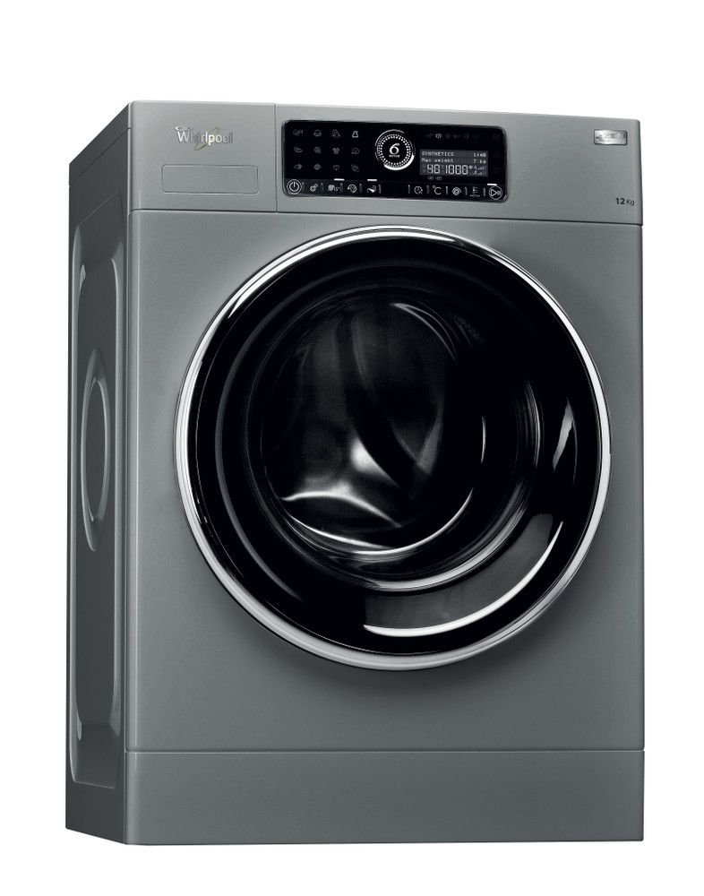 Whirlpool Washing machine Free-standing FSCR12433 Silver Front loader A+++ Perspective