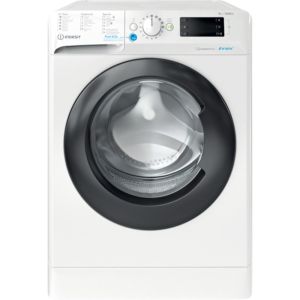 Indesit Lave-linge Pose-libre BWEBE 81484X WK N Blanc Frontal A+++ Frontal