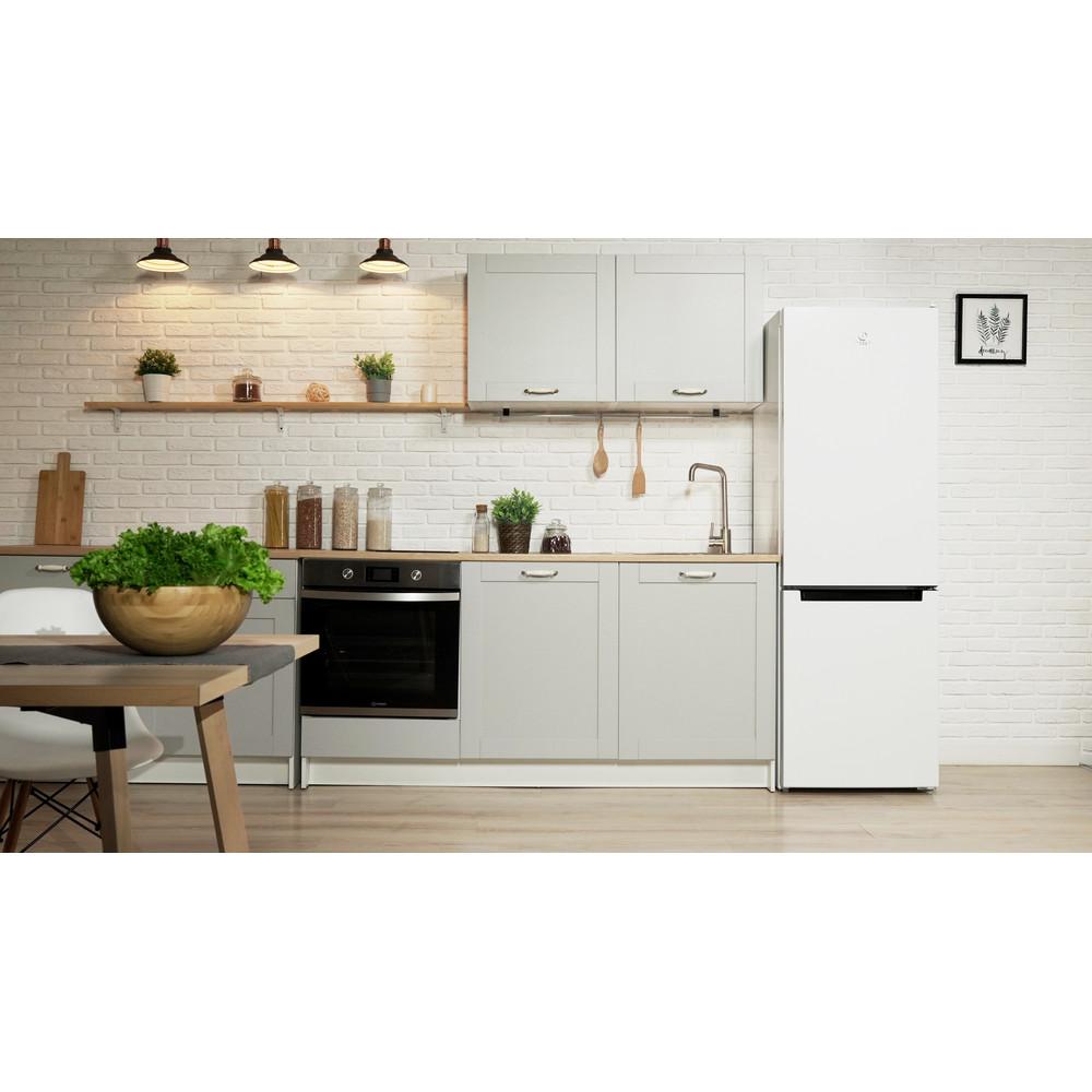 Indesit Холодильник с морозильной камерой Отдельностоящий DFN 20 Белый 2 doors Lifestyle frontal