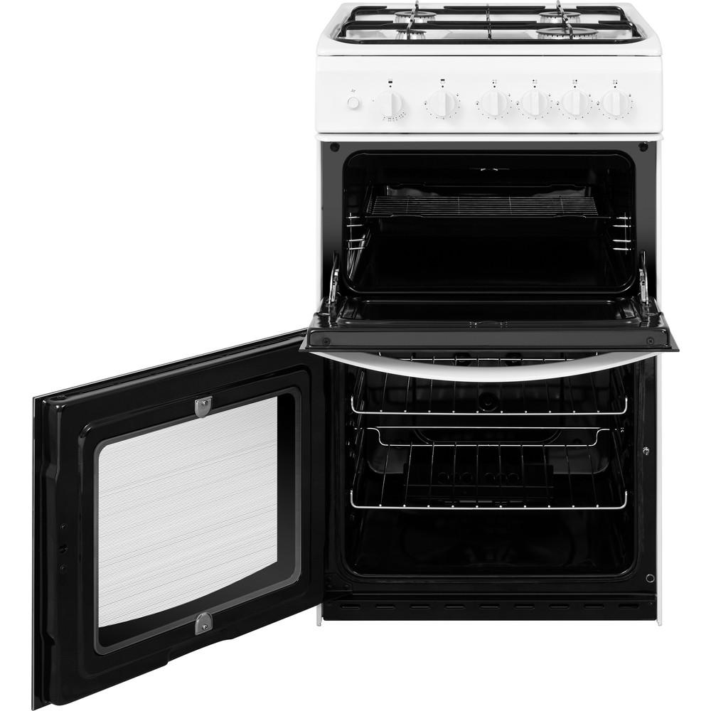 Indesit Double Cooker ID5G00KMW/UK White A+ Enamelled Sheetmetal Frontal open