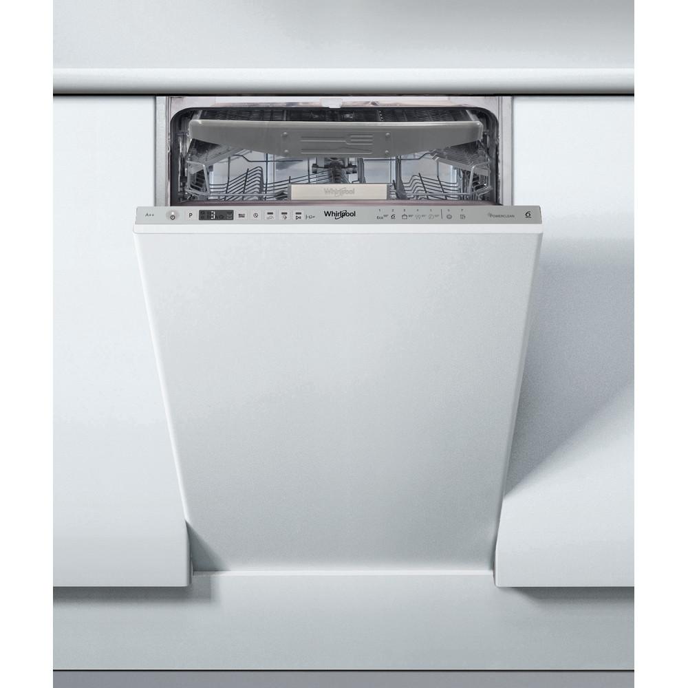 Whirlpool integrert oppvaskmaskin: farge stål, 45 cm - WSIO 3O23 PFE X