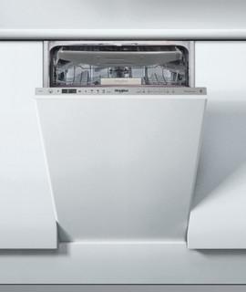 Integreret Whirlpool-opvaskemaskine: inox-farve, slank model - WSIO 3O23 PFE X