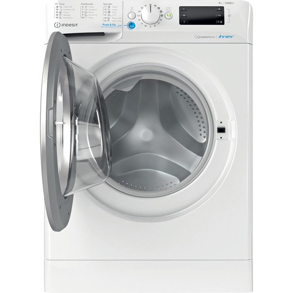 Indesit Tvättmaskin Fristående BWE 81484X WS EE N White Front loader C Frontal open
