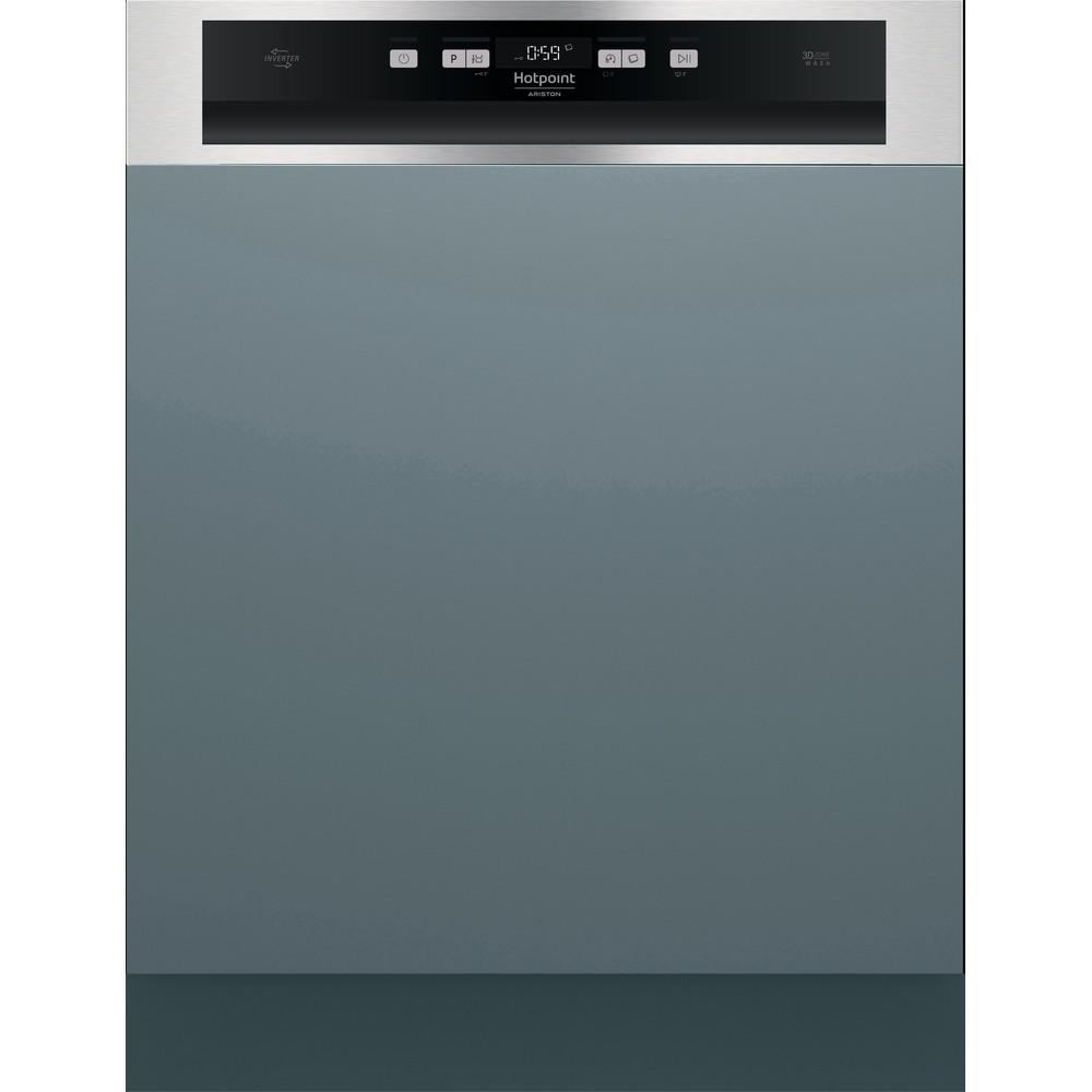 Hotpoint_Ariston Lave-vaisselle Encastrable HBO 3T141 W X Semi encastrable C Frontal