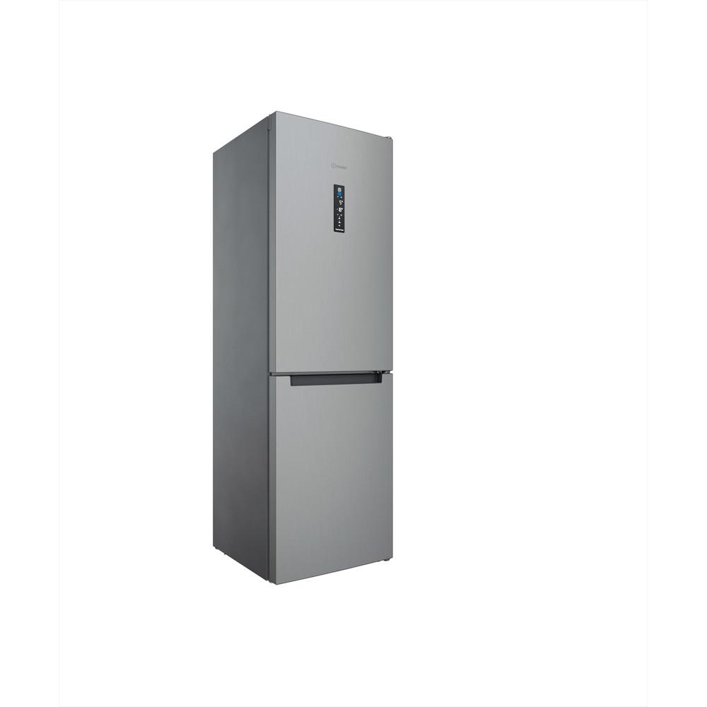 Indesit Koel-vriescombinatie Vrijstaand INFC8 TT33X Inox 2 deuren Perspective