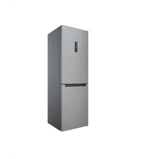 Indesit Réfrigérateur combiné Pose-libre INFC8 TT33X Inox 2 portes Perspective
