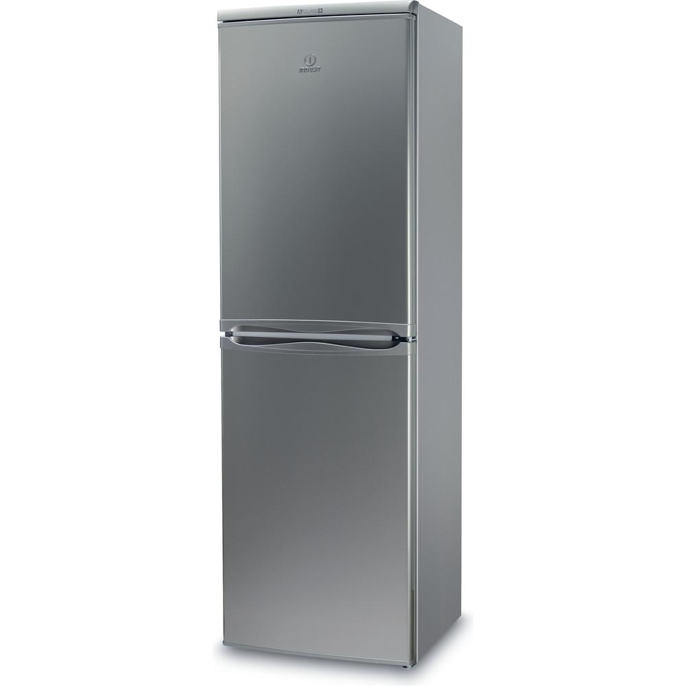 Indsit Racitor-congelator combinat Independent CAA 55 S Silver 2 doors Perspective