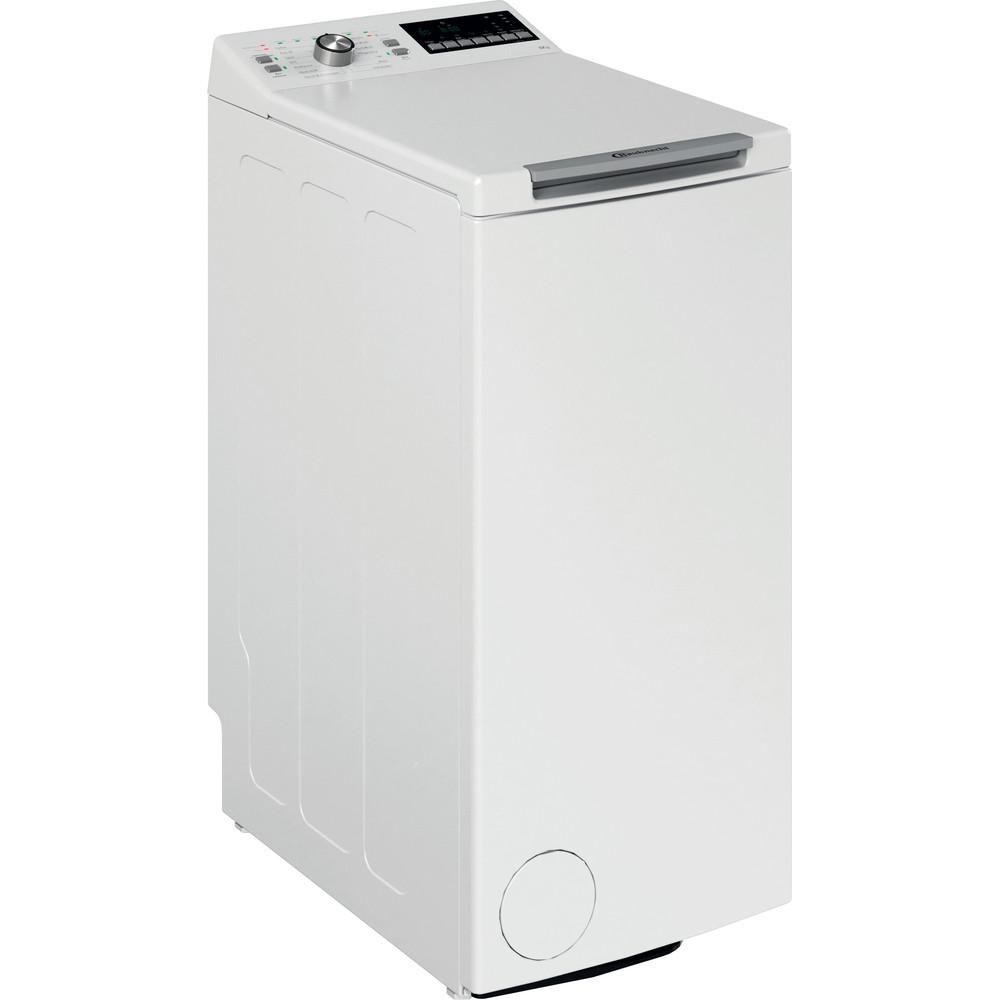 Bauknecht Waschmaschine Standgerät WAT 6312 N Weiss Toplader D Perspective