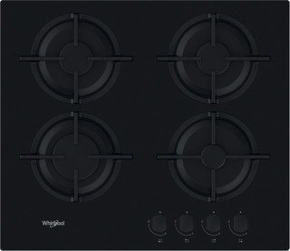 Whirlpool gas hob: 4 gas burners - GOR 615/NB