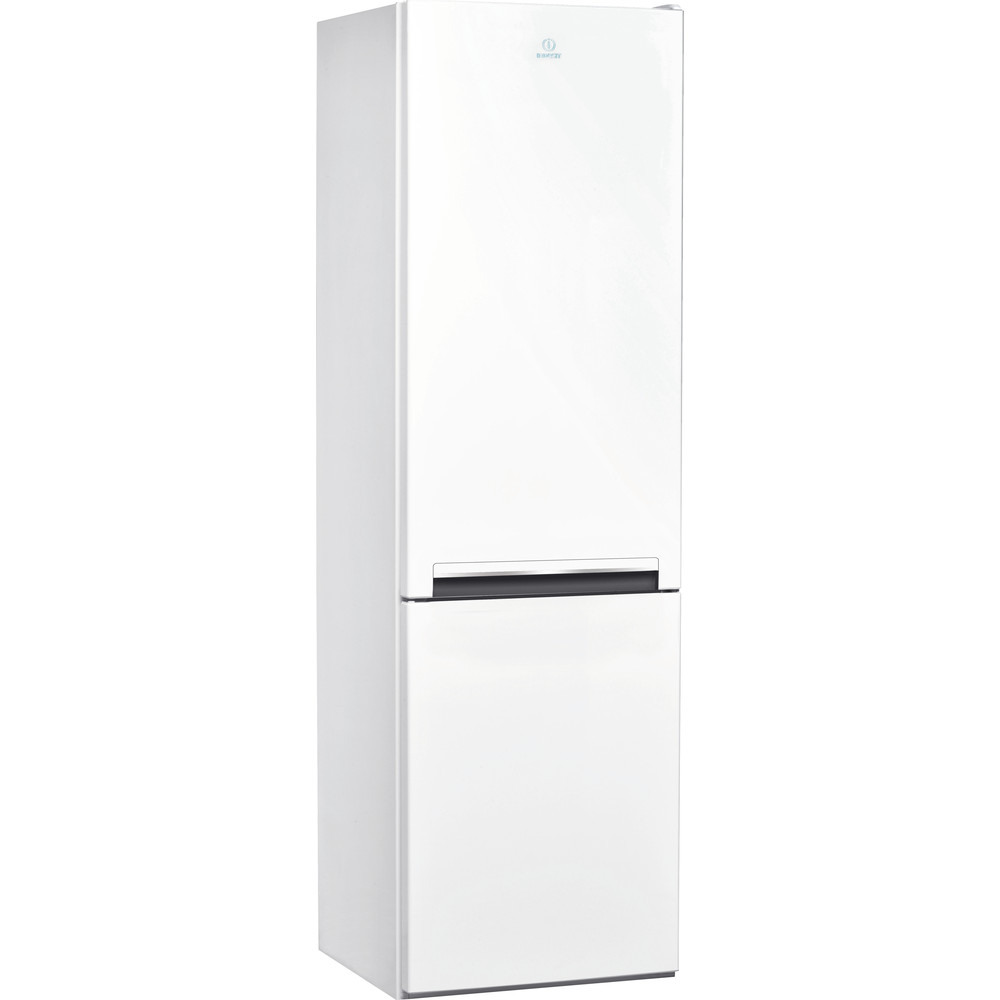 Indesit Комбиниран хладилник с камера Свободностоящи LI8 S1 W Бял 2 врати Perspective