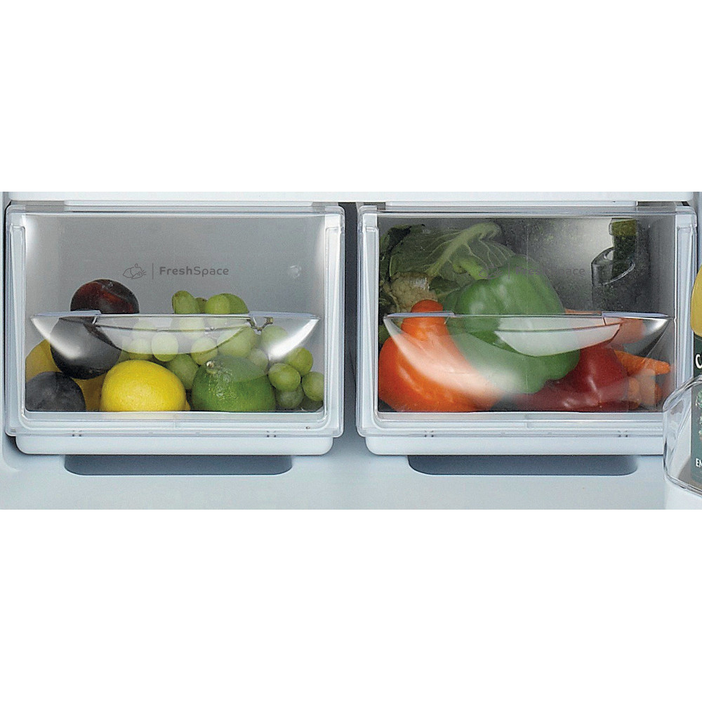Indesit Fridge-Freezer Combination Free-standing IBD 5515 B 1 Black 2 doors Drawer