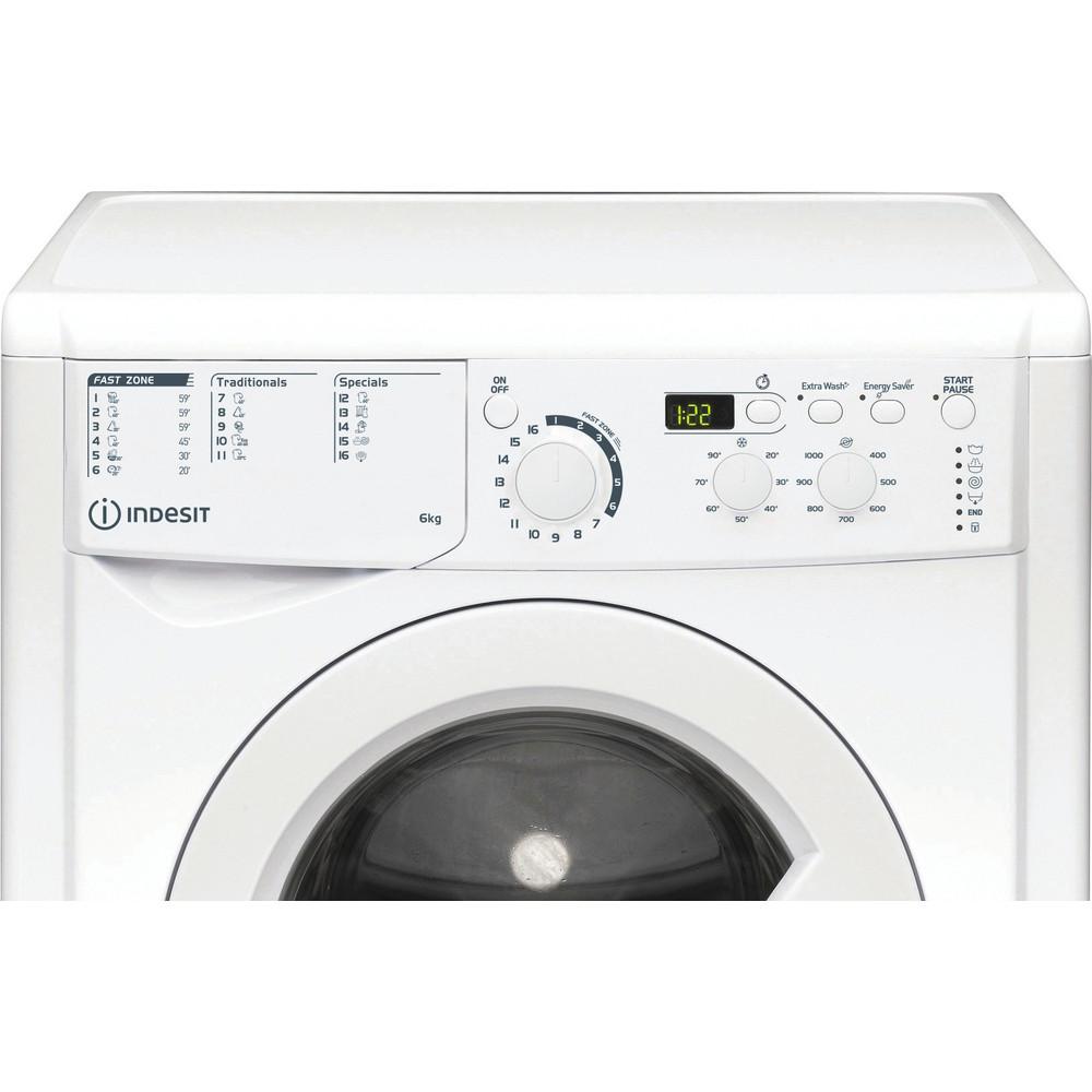 Indesit Waschmaschine Freistehend EWD 61051E W EU N Weiß Frontlader F Control panel
