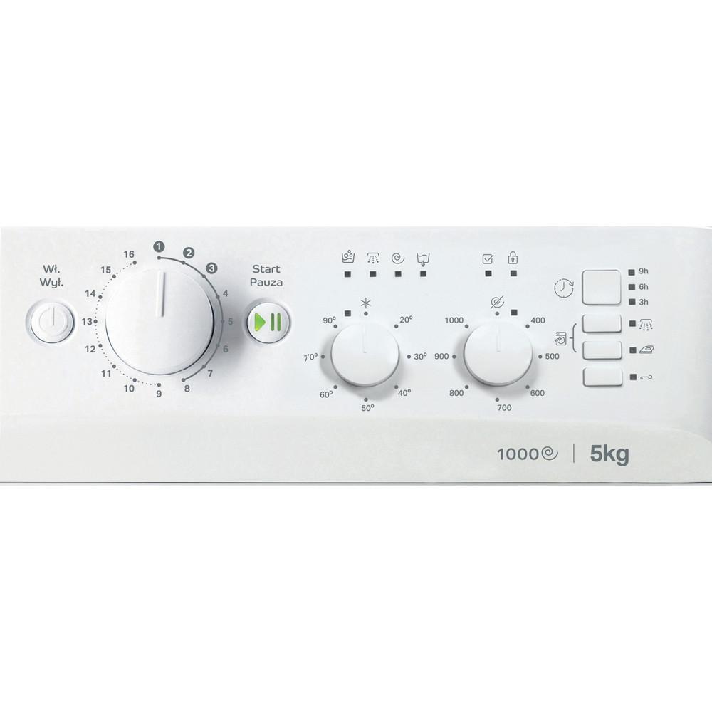 Indesit Pralka Wolnostojące MTWSC 510511 W PL Biel Ładowany od frontu F Control panel