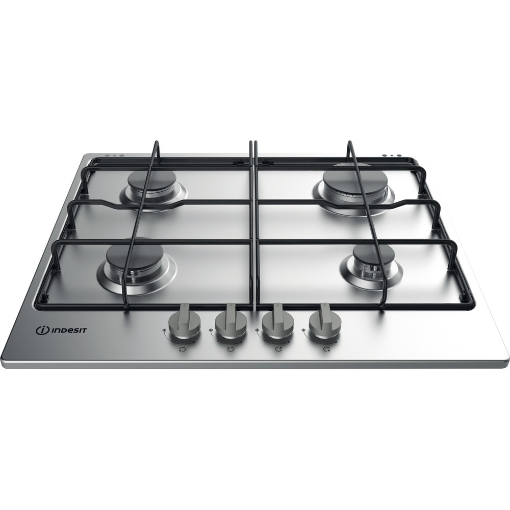 Indesit Table de cuisson THP 642 IX/I Inox GAS Frontal top down