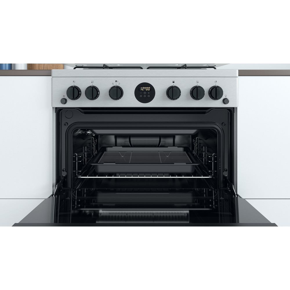 Indesit Double Cooker ID67G0MCX/UK Inox A+ Cavity